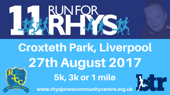 Run For Rhys Fun Run in Croxteth Park Liverpool
