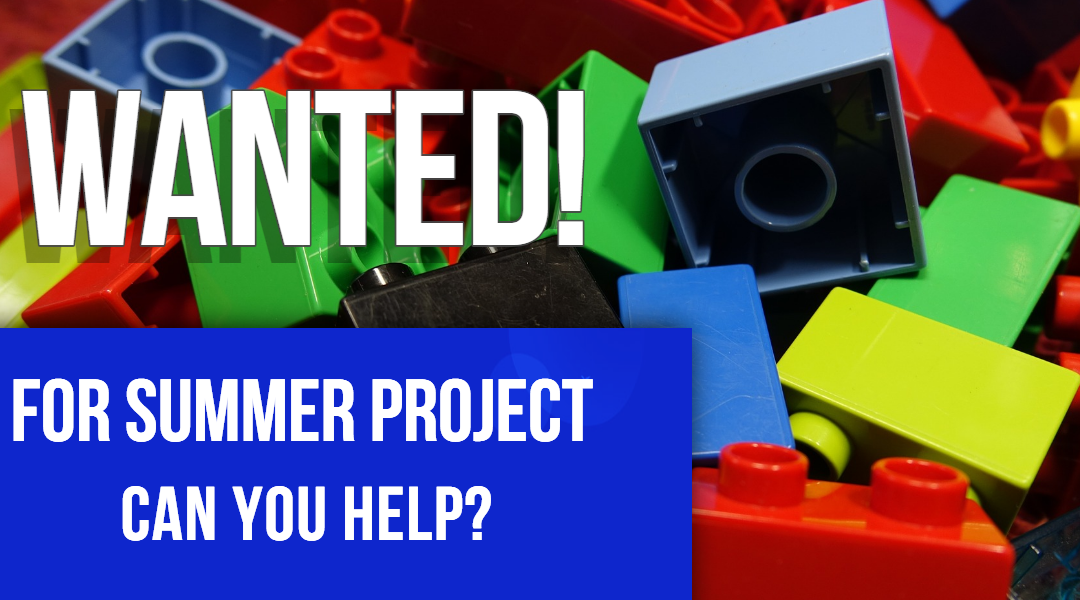 Lego Bricks Wanted For Summer Project