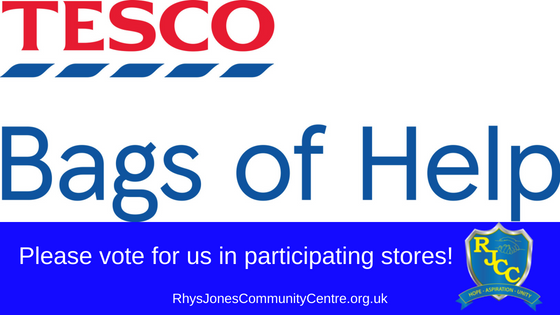 Please vote for Rhys Jones Community Centre in participating stores- Bags of Help