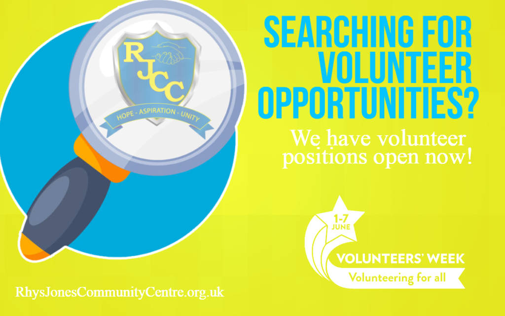 Volunteer for us at the Rhys Jones Community Centre in Croxteth Park, Liverpool