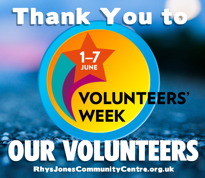 Thank you volunteers at Rhys Jones Community Centre Liverpool