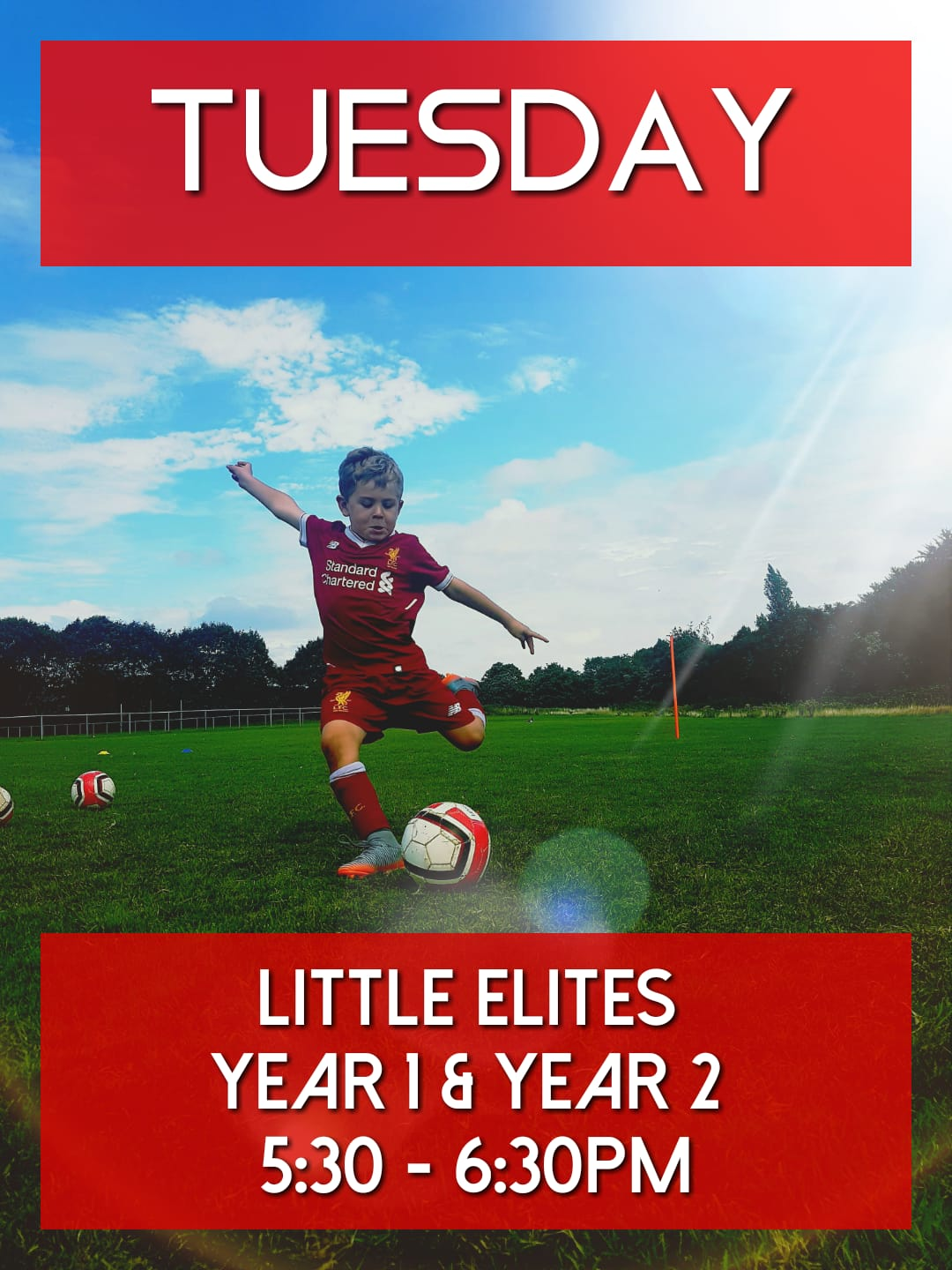 Little Elites football coaching Rhys Jones Community Centre Liverpool