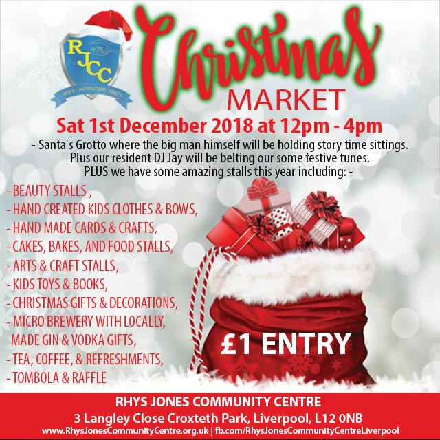 Christmas Market Rhys Jones Community Centre Croxteth Park Liverpool 1st December 2018