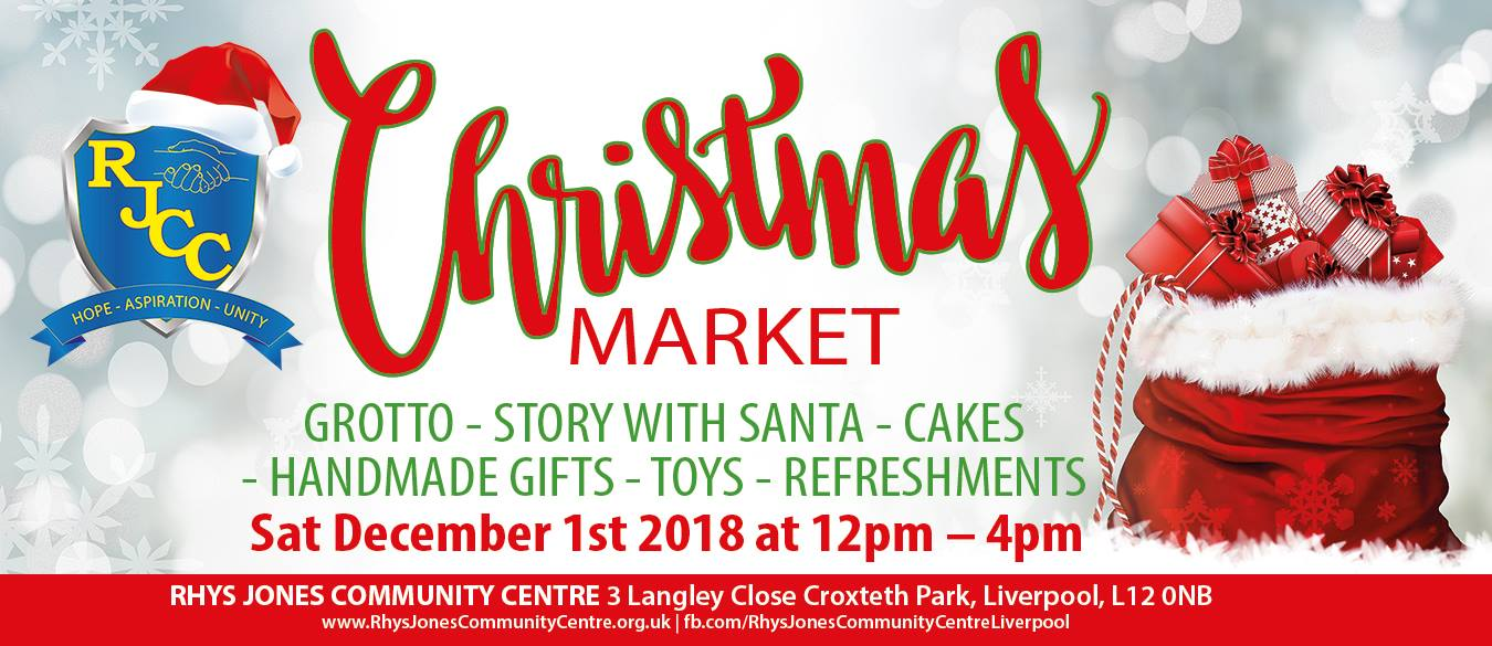 2018 christmas market Rhys Jones Community Centre Croxteth Park Liverpool