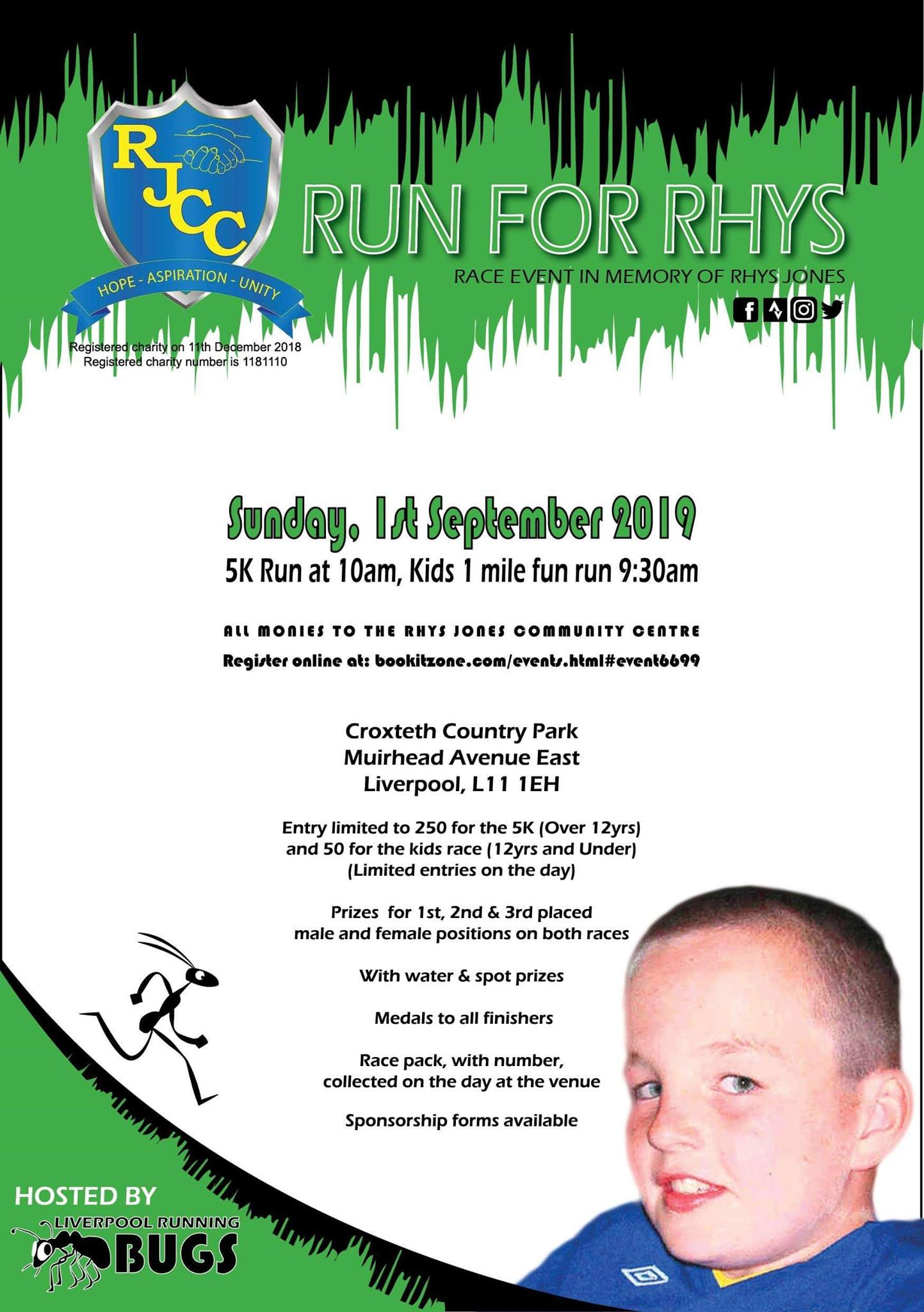 Run for Rhys 2019 flier